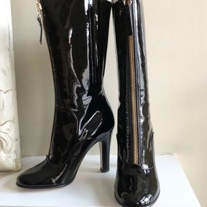 👑HOST PICK👑VALENTINO Patent Leather Zip Up Boots